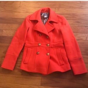 J. Crew Stadium Cloth  Wool Peacoat